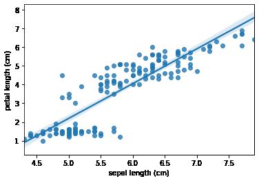 Correlation Scatter Plot using seaborn in pandas